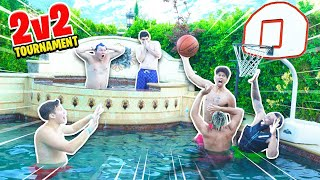 EPIC 2HYPE 2v2 POOL Mini Basketball TOURNAMENT!