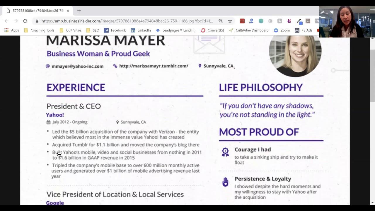 Is Marissa Mayer S Resume Impressive