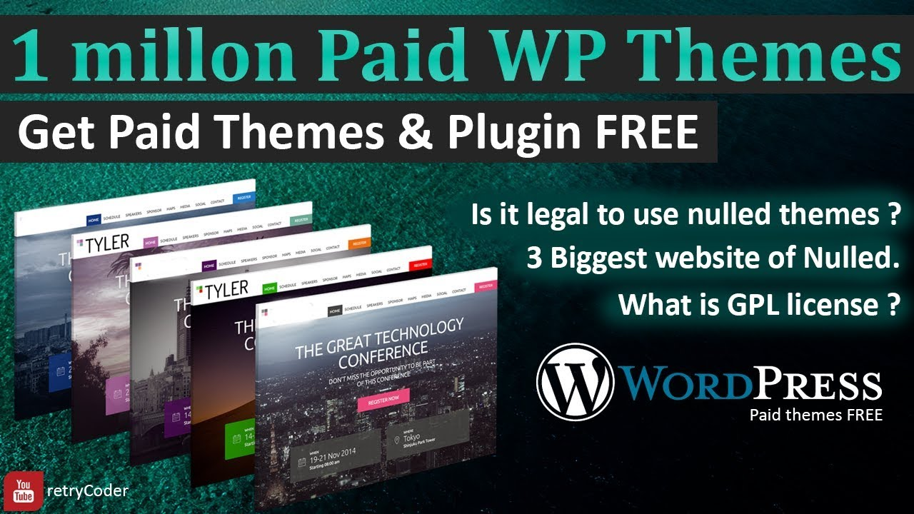 How to download wordpress Premium Themes FREE | Nulled Themes | Legal or  not | GPL theme or plugin - YouTube
