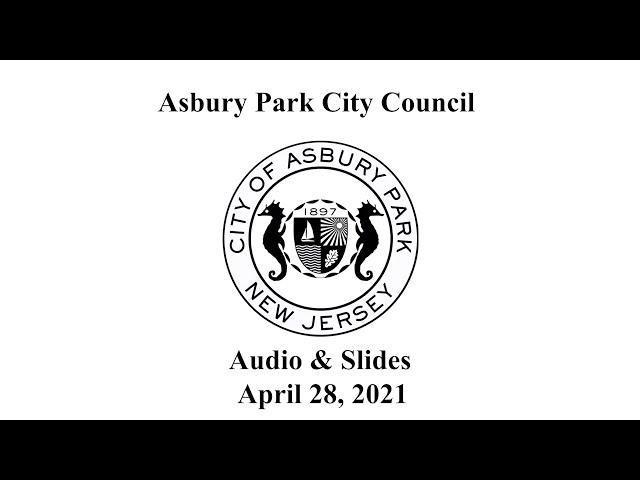 Asbury Park City Council - April 28, 2021
