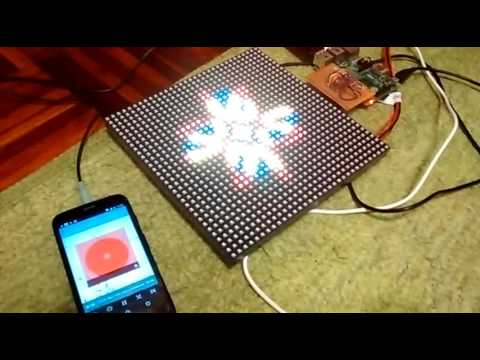 Realtime Music Visualizer on LED Panel for Raspberry PI 2