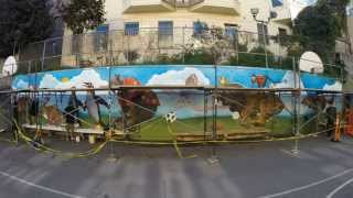 animal race mural time lapse.