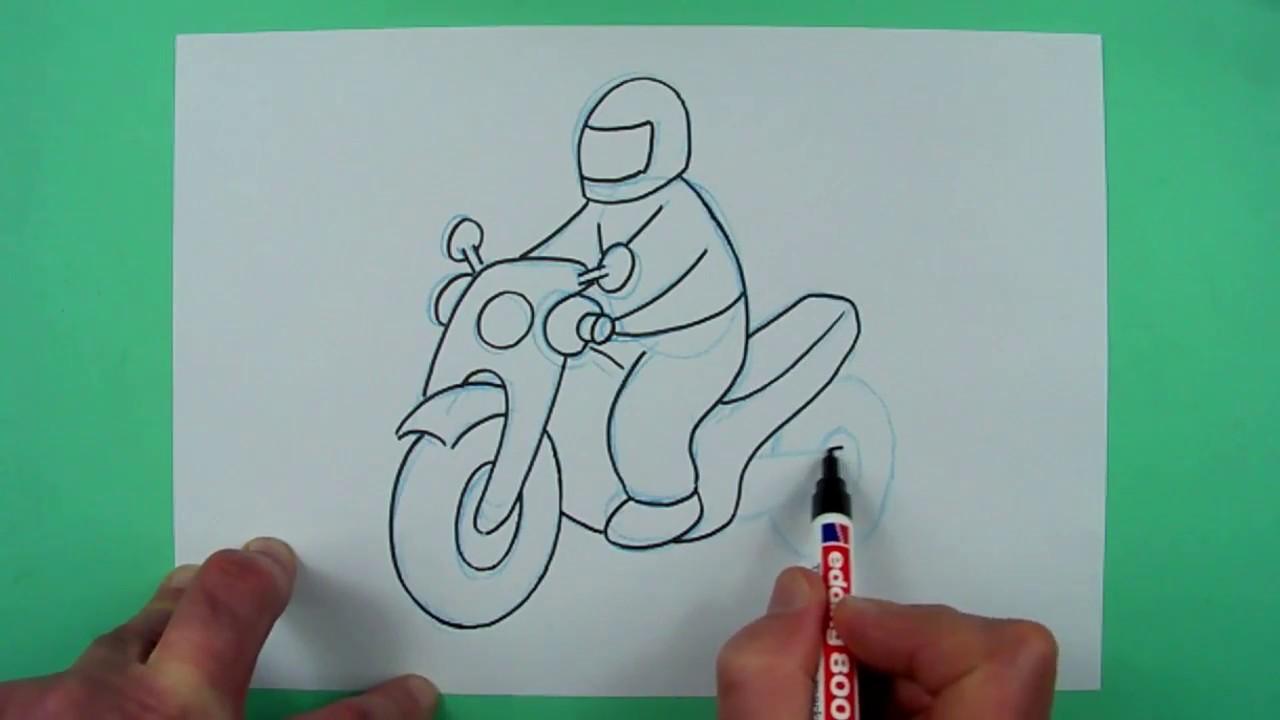 wie zeichnet man ein einfaches motorrad zeichnen f r. Black Bedroom Furniture Sets. Home Design Ideas