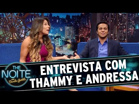 The Noite (07/04/16) - Entrevista Com Thammy Miranda E Andressa