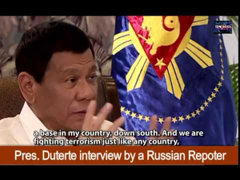 """Pres.Duterte"" - Interview by a Russian Reporter in Moscow"