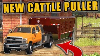 OUR NEW CATTLE PULLER- 2019 CHEVY 4500 W/ FLATBED | FARMING SIMULATOR 2017