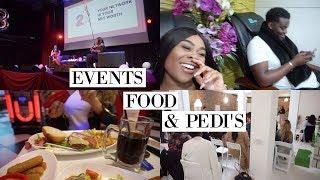 EVENTS, FOOODDDD & BAE'S FIRST PEDICURE | WEEKLY VLOG #9