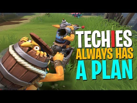 Techies Always Has A Plan - DotA 2 Funny Moments