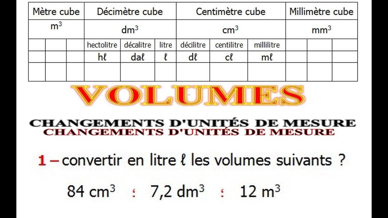 Maths 5eme Volumes Convertir D Unites De Mesure Exercice 5 Youtube