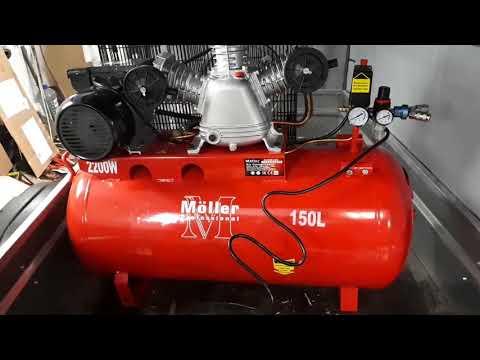 Компрессор Moller AC 500/150 220В распаковка и первый запуск
