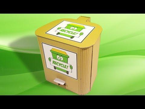 Make Recycle Bin - Diy Recycle Bin Separator - Weekend Project Life Hack!