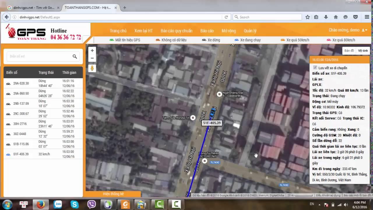 Hướng dẫn sử dụng phần mềm giám sát trực tuyến – TOÀN THẮNG GPS