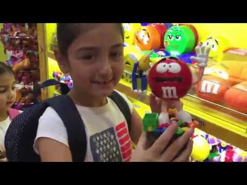 Star Girls! are discovering the Dubai Duty Free Toys & Candy sections!