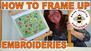 Get ready for stitching!  Framing up tutorial.