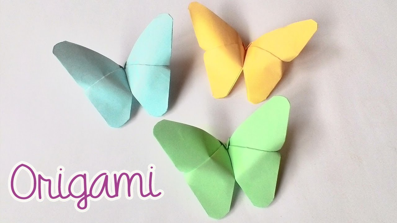 Cara Membuat Origami Kupu Kupu Dengan Mudah How To Make Butterfly Origami Youtube