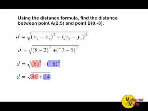 Using The Distance Formula Or Pythagorean Theorem To Find