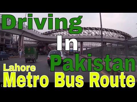 Driving In Pakistan 8 - Ferozepur Road along Lahore Metro Bus Route. (25th October 2015)