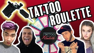Tattoo Roulette: EXTREME Pain Game!! (ft. RiceGum, Alissa Violet, Wolfie, Banks + MORE!!)