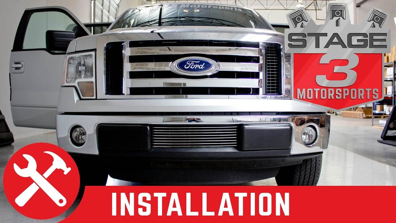 2009-2013 F150 Carriage Works Lower Billet Grille - YouTube