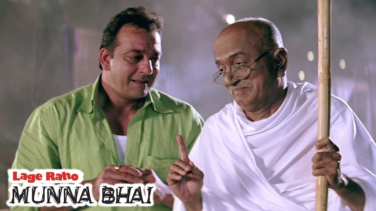 मुन्ना भाई की बापू के साथ सेटिंग | Lage Raho Munna Bhai | Sanjay Dutt |  Arshad Warsi - YouTube