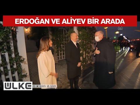 Cumhurbaşkanı Erdoğan'ı Azerbaycan Lideri İlham Aliyev Karşıladı.