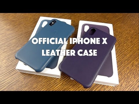 huge discount f32a4 7b245 iPhone X Leather Case in Cosmos Blue & Dark Aubergine