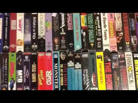 vhs tape collection 80s 90s classic mix vcr movies