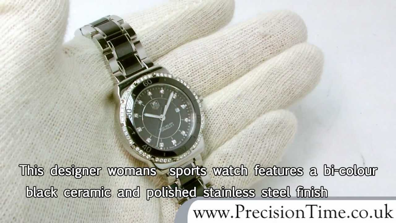 e75d0274dd5 Tag Heuer WAH1312.BA0867 F1 Ceramic 60-Diamond Ladies Watch - YouTube