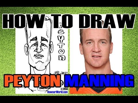 How To Draw A Quick Caricature - Peyton Manning