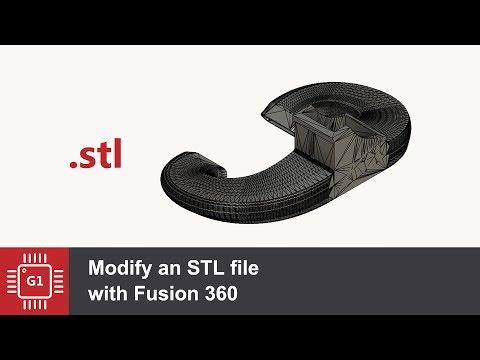 Редактирование STL модели во Fusion 360