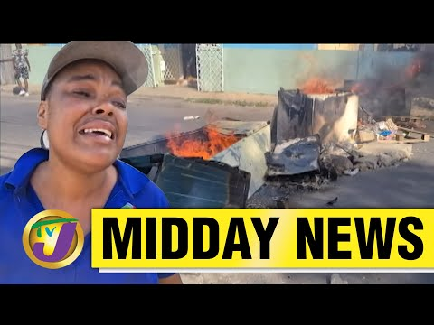 Police Station Destroyed   Protest in Spanish Town, Jamaica   TVJ News