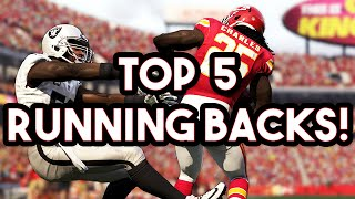 Madden 16 -  Top 5 Running Backs w/ Key Ratings (Speed toned down?)