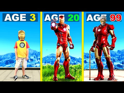 Surviving 99 YEARS As IRON MAN In GTA 5 ...