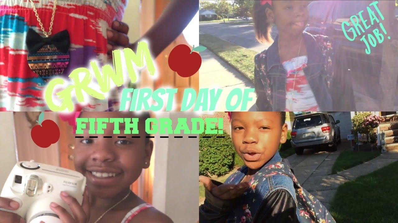 grwm day of 5th grade