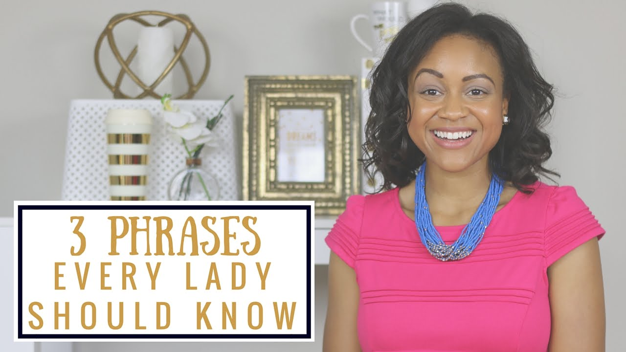 how to be a lady blog