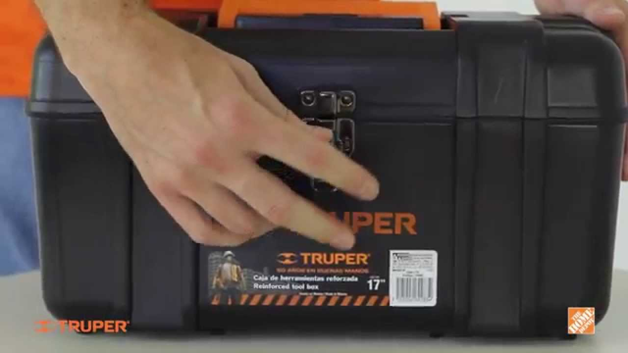 Caja para herramientas de 17 truper youtube for Home depot herramientas