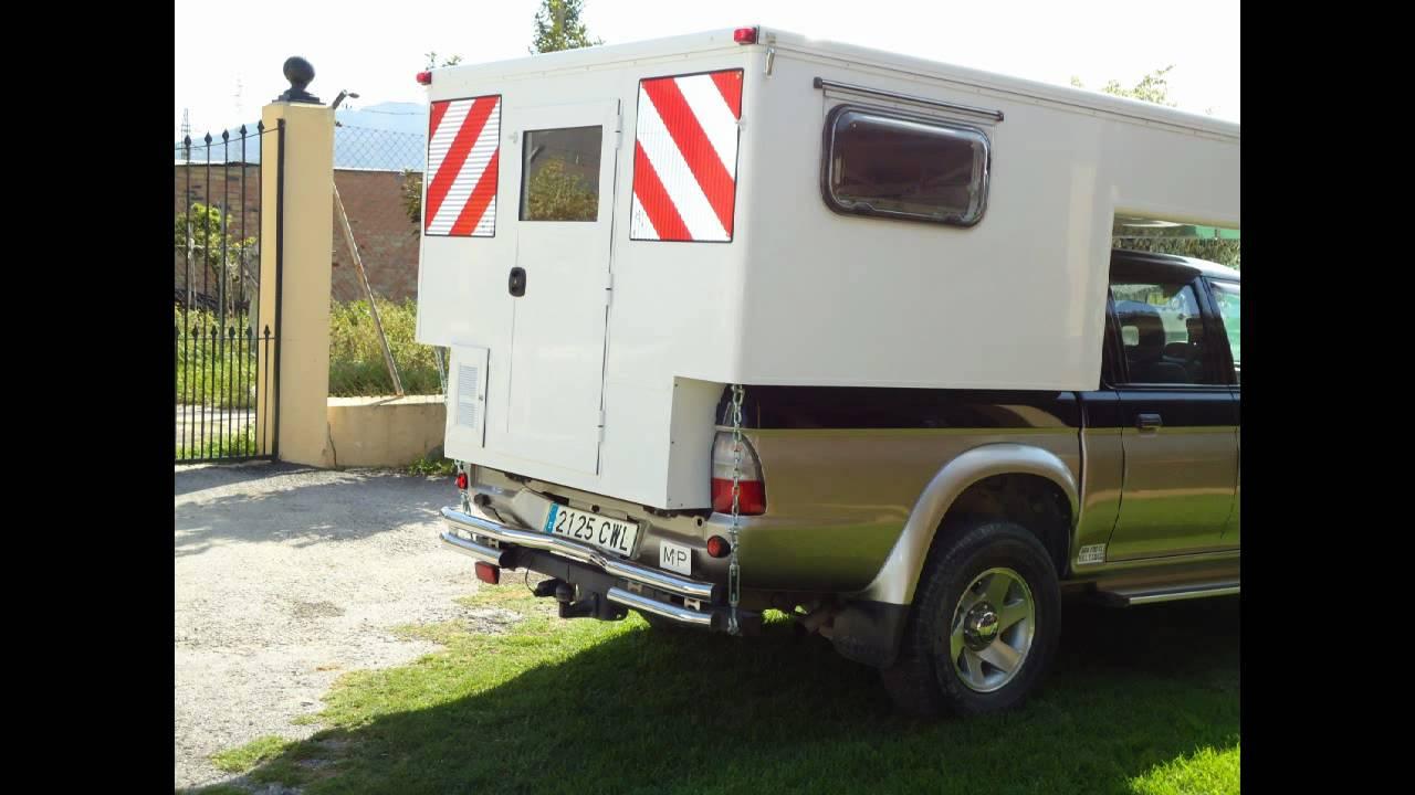 Camionetas En Venta >> Truck Camper Europe Celula Vivienda para Pick-up - YouTube