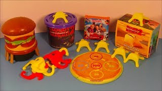 2013 CLOUDY WITH A CHANCE OF MEATBALLS 2 SET OF 4 HARDEE'S KIDS MEAL MOVIE TOY'S VIDEO REVIEW thumbnail