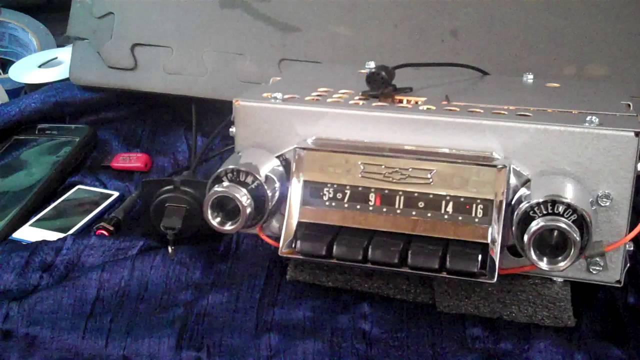 1957 chevy original am push button radio