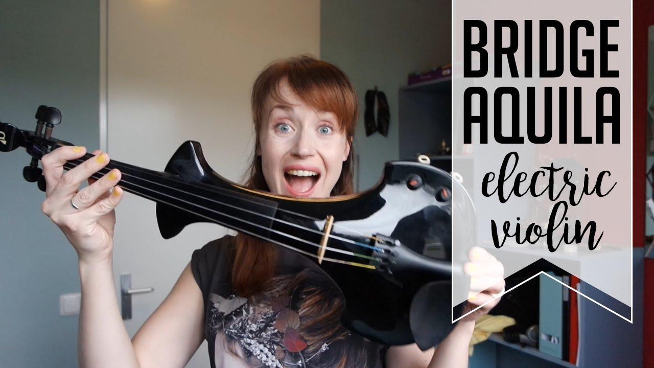 my new electric violin bridge aquila youtube. Black Bedroom Furniture Sets. Home Design Ideas