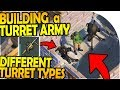 BUILDING a TURRET ARMY - DIFFERENT TURRET WEAPONS IDEA - Last Day On Earth Survival 1.7.9 Update