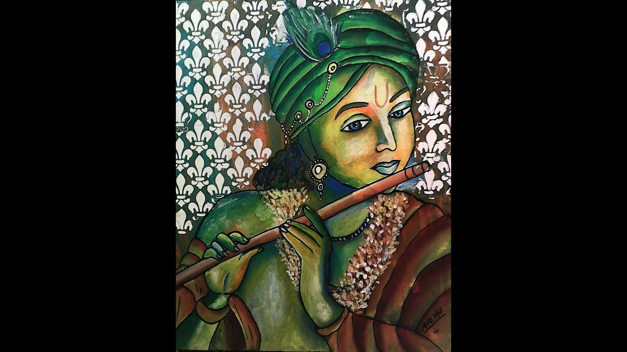 Abstract Krishna Painting