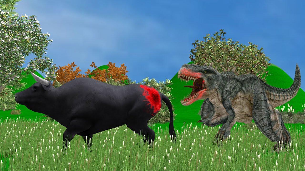 Dinosaur and Buffalo Fighting Story 2021 | Bedtime | Hindi Kahaniyan | Moral Stories In Hindi