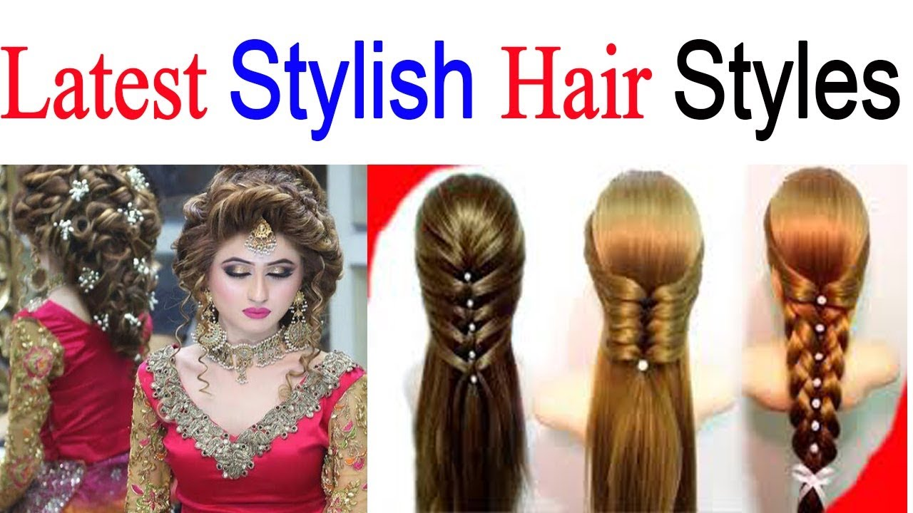 new fashion design | latest & stylish hairstyle for girls | party hair style