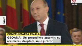 Băsescu Geoană Confruntarea finală 04/18