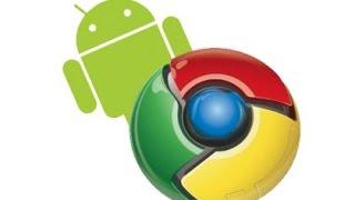 google chrome on Samsung Galaxy Y