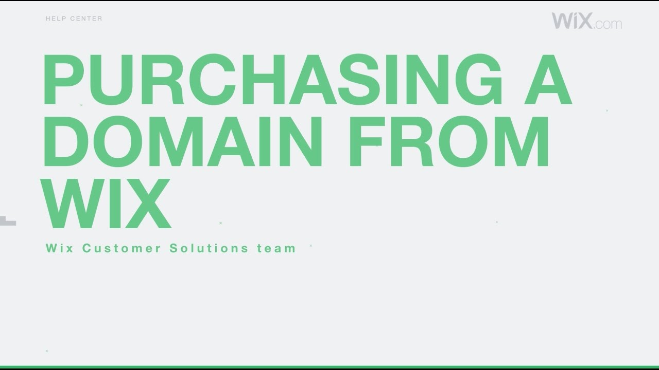 Purchasing a Domain from Wix | Help Center | Wix com