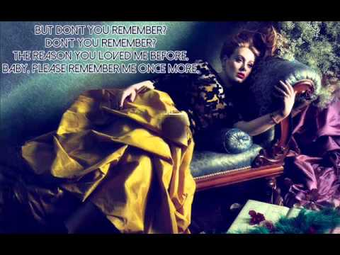 Adele  Dont You Remember  Lirik Lagu