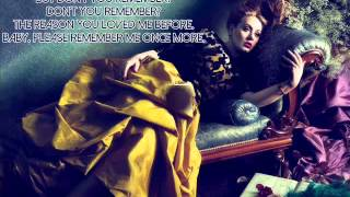 Video Adele - Don't You Remember | Lirik Lagu download MP3, 3GP, MP4, WEBM, AVI, FLV Oktober 2017