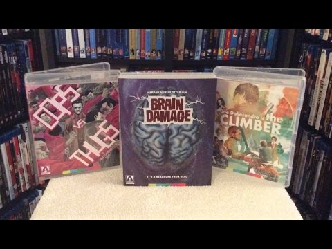 Brain Damage / Cops vs Thugs / The Climber BLU RAY UNBOXING & Review - Arrow Video